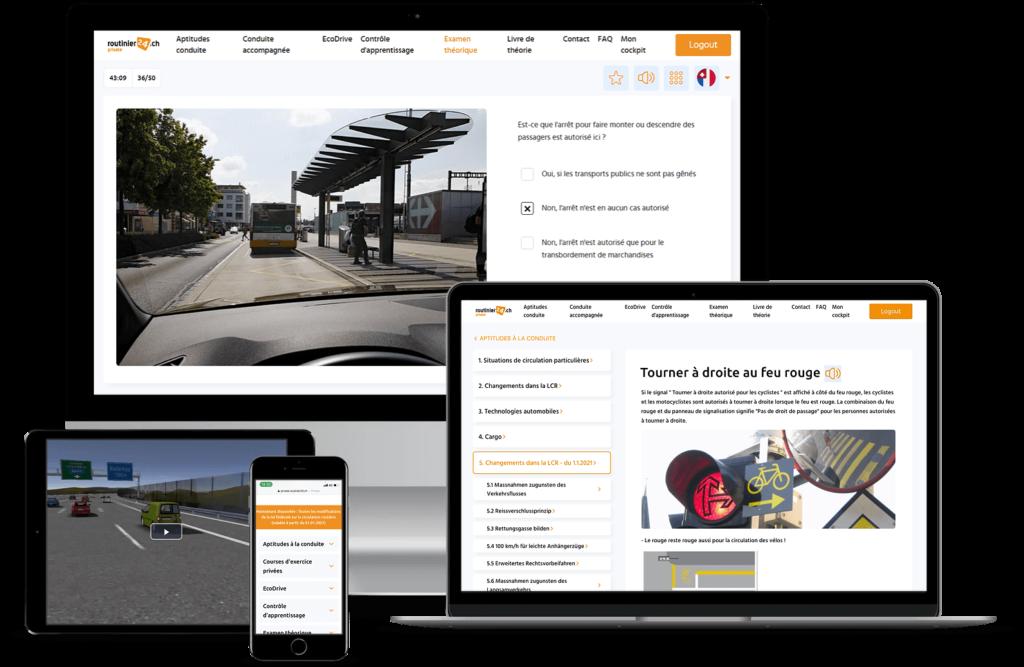 """Guide de la circulation routière de routinier24.ch - """"conducteur accompagnateur"""", """"conduite au troisième âge"""" ou """"conduite d'entreprise"""""""